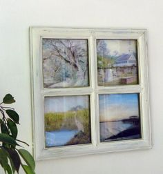 Handmade Cubicle Window Decoration with 4 Seasonal Views ...