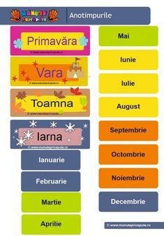 010 - calendarul naturii - anotimpurile si lunile anulului