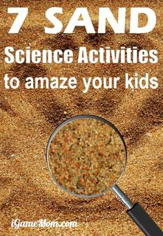 Planning family beach vacation with kids? Try these fun sand science experiments for kids and the whole family, also good for sandbox in backyard or park   outdoor STEM activities