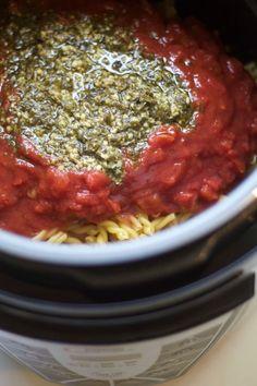 Pesto Chicken Pasta: 10-minute Pressure Cooker Recipe