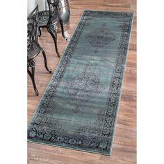 nuLOOM Oriental Vintage Viscose Persian Marine Runner Rug (2'7 x 8') - Overstock Shopping - Great Deals on Nuloom Runner Rugs