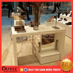Fashion Wooden antique chain mdf Shoes shop counter design Display Showcase Kiosk store fixtures For Sale Mall