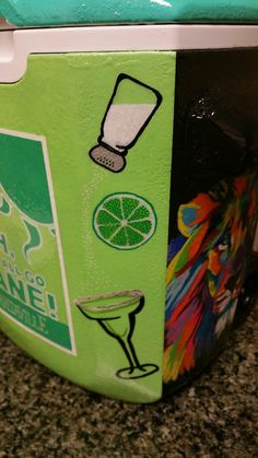 Salt, Lime, Tequila, Margarita! I love this for a cooler corner!