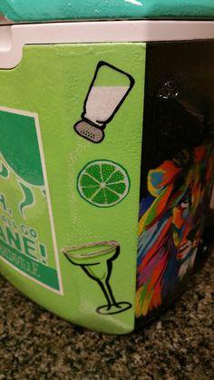 Salt, Lime, Tequila, Margarita! I love this for a cooler corner!