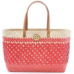Tory Burch Straw Square Tote - Easily one of the prettiest go-everywhere totes of the season
