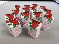 Milchkartons als giveaways-