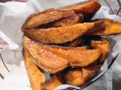 Sweet Potato Steak Fries Recipe : Nancy Fuller : Food Network - FoodNetwork.com