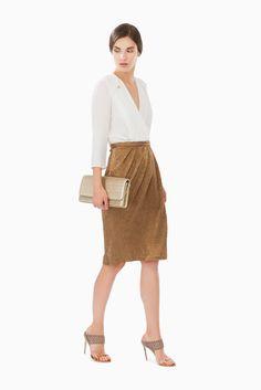 Gonna laminata - Gonne su Digital Store ELISABETTA FRANCHI - la Boutique online ufficiale 163