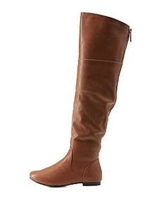 Bamboo Over-the-Knee Flat Riding Boots