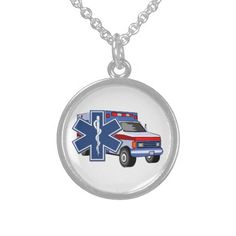 EMS Ambulance Necklace EMT, Paramedics and Fire Rescue