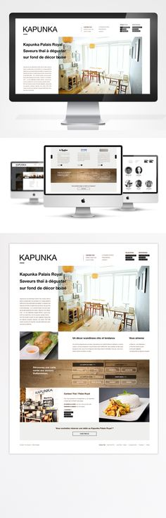 Kapunka webdesign website inspiration site design minimalist black and white melissa zambrana graphiste mzgraphisme graphisme typographie typo restaurant website food graphic design template Designer Sydney Paris Food Graphic Design, Graphic Design Templates, Site Design, Web Design, Restaurant Website, Decoration, Typo, Sydney, Minimalist