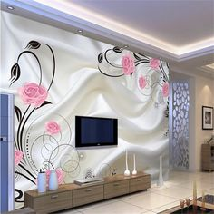 beibehang Custom photo wallpaper Large sofa TV background wall paper mural wall art roses 3d mural wallpaper papel de parede #Affiliate
