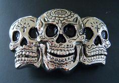3D HUMAN SKULL SKULLS EVIL BONES SKELETON BELT BUCKLES #skull #skulls #skullbeltbuckle #skullbuckles #3skulls #evil #beltbuckles #coolbuckles