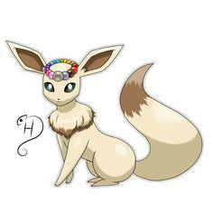 Seneon by cdhernly Pokemon Rare, Pokemon Oc, Pokemon Comics, Pokemon Fan Art, Cute Pokemon, Pokemon Kalos, Pokemon Eevee Evolutions, Creature Drawings, Animal Drawings