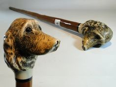 168) Vintage walking stick with dogs head knop Est. £15-£25