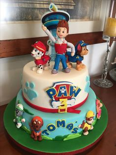 Paw Patrol - cake Paw Patrol Birthday Cake, 3rd Birthday Cakes, Paw Patrol Party, Boy Birthday Parties, Birthday Celebration, Torta Paw Patrol, Clay Crafts For Kids, Character Cakes, Ideas
