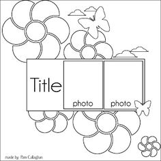Ideas for Scrapbookers: Two Sketches and a Template!