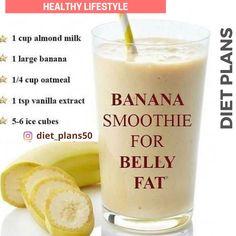 Fruit Smoothie Recipes, Protein Shake Recipes, Good Smoothies, Banana Recipes, Smoothie Diet, Morning Smoothies, Strawberry Smoothie, Green Smoothies, Tea Recipes