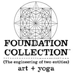 The engineering of two entities  yoga+art  FOUNDATION COLLECTION  www.foundationcollection.com
