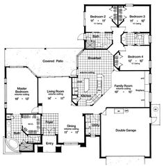 Contemporary Florida Mediterranean House Plan 63270 Level One, 2348sf