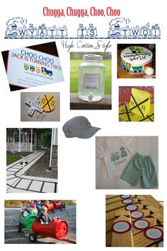 train birthday party inspiration board