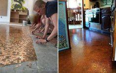 Floor of pennies... Cool!