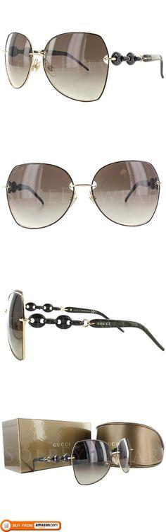 653a15368499 Gucci GG 4202 S WPUCC Black Gold Brown Gradient 60mm Sunglasses