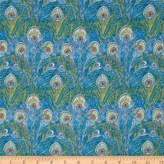 Liberty of London's Lightweight Cotton Tana Lawn Hera in Turquoise & Mustard $26.98 yd (sale)