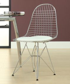hite Wire Tower Side Chair by Modway