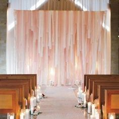 strips of fabric backdrop | Fabric Strip Backdrop | Wedding Stuff