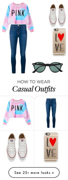 """casual"" by guillermina-morgavi on Polyvore featuring Chicnova Fashion, Frame Denim, Converse, Casetify, Ray-Ban, women's clothing, women, female, woman and misses"