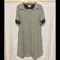From Japan, linen tunic dress XS-S Loose linen tunic dress, to mid calf (on me), hand made in Japan, with an arm and leg thrown in for getting a personal Japanese shopper to get it for me. The company does not export to anywhere? Simple and nice... Handmade Dresses Midi