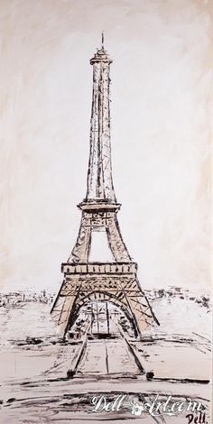 """""""Eiffel Tower View""""  Oil on canvas by Dell-Art"""