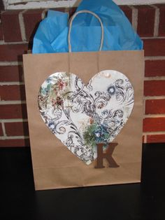 Handmade gift bag ~ Visit and Like Special Moments by Joelle on FB ~ Party Planning and homemade crafts and gifts!