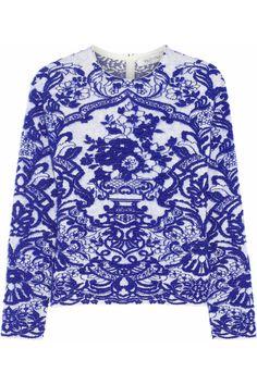 Valentino|Intarsia stretch-knit sweater|NET-A-PORTER.COM