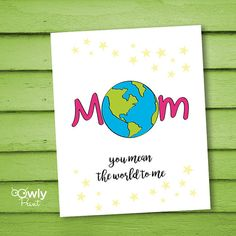 Printable Happy Mothers Day Card.Ready to print por Owlyprint