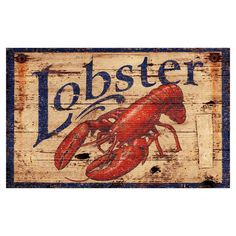 I pinned this Lobster Wall Art from the Mudroom Makeover event at Joss and Main!