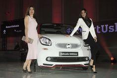 Raquel Revuelta y Cecilia López en el evento de presentación Smart Ushuaïa Limited Edition 2016