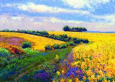 Meadow Painting - Fields Of Gold by Jane Small