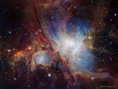 The Orion Nebula in Infrared from HAWK-I.  Image Credit: ESO, VLT, HAWK-I, H. Drass et al.  http://apod.nasa.gov/apod/ap160718.html