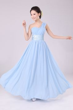 Wholesale One shoulder bridal formal dress toast bridesmaid dressoblique long design formal dress long design, Free shipping, $29.12/Piece | DHgate
