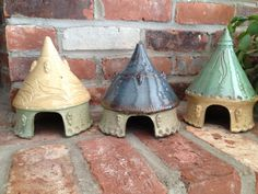 Toad Houses,the  perfect get away for your garden friends, by Paula Barry Ceramics