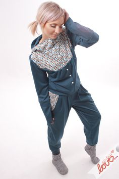 Overalls   Jumpsuits - mydearlove Sweat-Overall