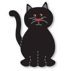 moldes eva gato preto
