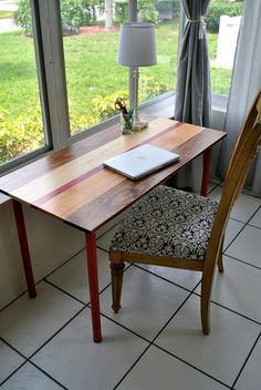 "Great multipurpose wood desk that looks pretty awesome, if I do say so myself. Ive sold more desks in this style (with various different legs) than Ive sold any other bigger items, both locally and through Etsy. DIMENSIONS – Choose your size: --Small desk: 35L x 17D --Large desk: 47""L x 23""D (pictured) --Choose Small or Large at checkout --Height of both sizes: 29"" --I will gladly do custom sizes…just put it in the order notes. Any size between the small and large size will cost the same as…"