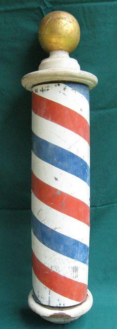 Vintage Barber Pole decorative advertising sign |