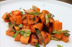 Grilled Sweet Potato & Scallion Salad   gluten free club