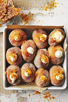 Brioche Donuts, Doughnuts, Beignets, Churros, Donut Recipes, Baking Recipes, Delicious Donuts, Yummy Food, Just Desserts