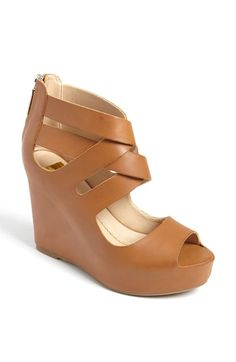 I couldn't resist the seamless wedge in camel leather
