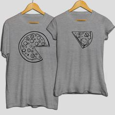 Pizza with cheese couple matching high quality cotton t-shirt, perfect gift for lovers, boyfriend and girlfriend day wear